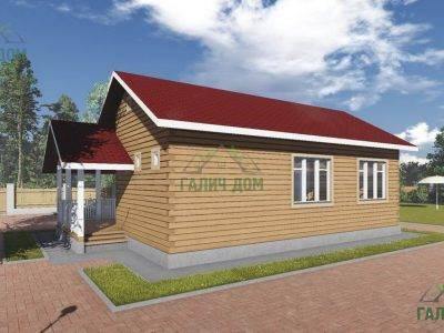 Картинка (3) Проект одноэтажного дома из бруса 6х10 (ДБ-14)