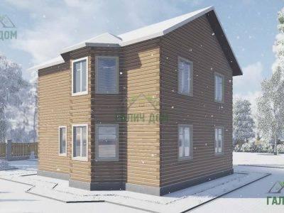 Картинка (2) Двухэтажный загородный дом из бруса 9 на 9 (ДБ-108)