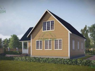 Картинка (2) Дачный дом из бруса 10х11 с мансардой (ДБ-46)