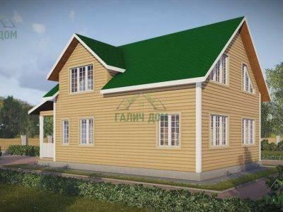 Картинка (3) Проект дома из бруса 8х11 с кукушкой (ДБ-49)