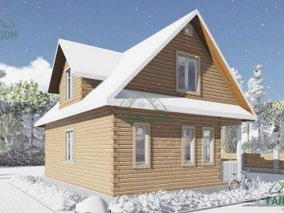 Картинка (4) Проект дома из бруса 7 на 9 с мансардой