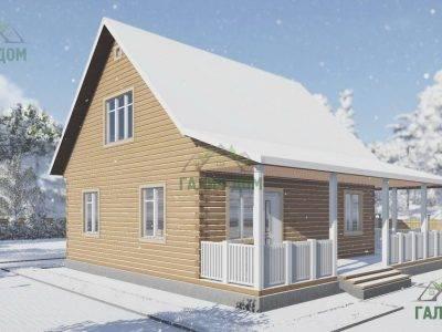 Картинка (4) Проект дачного дома из бруса 8х9