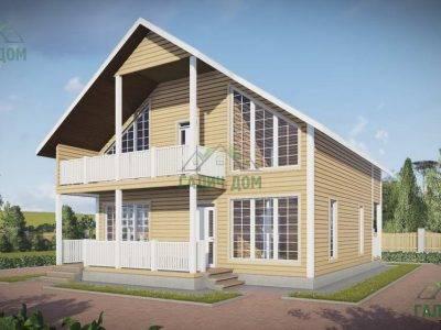 Картинка (4) Проект дома 9х12 с большими окнами (ДБ-56)