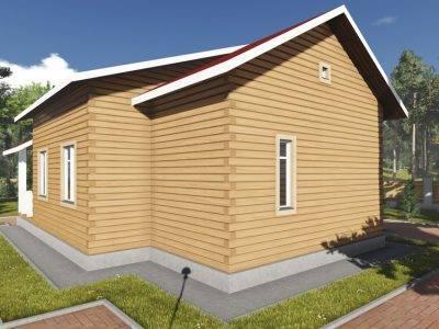 Картинка (4) Проект одноэтажного дома из бруса 9 на 12 (ДБ-93)