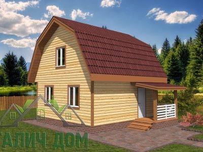Картинка (4) Дом 6 на 6 с ломаной крышей
