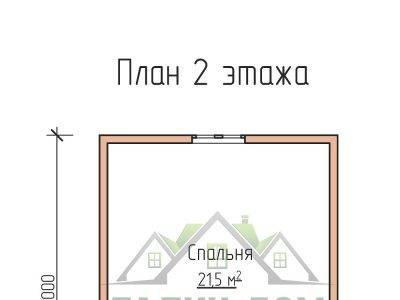 Картинка (6) План 2 этажа дома из бруса 6 на 6