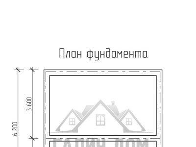 Картинка (7) План фундамента дома из бруса 6 на 6