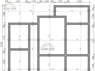 Картинка (6) План фундамента одноэтажного дома из бруса 11 на 13