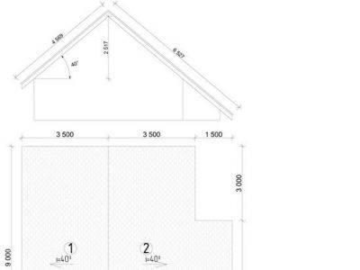 Картинка (7) План кровли дачного дома 7х8 из бруса (ДБ-40)