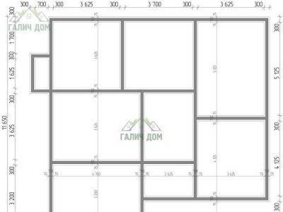 Картинка (6) План фундамента одноэтажного дома 11х13