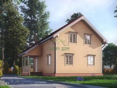ДБ-172 | Современный дом из бруса 7х9