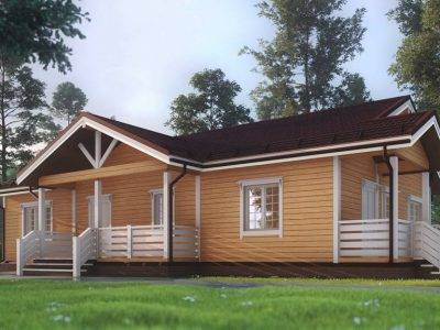 ДБ-5 | Одноэтажный дом из бруса 13х15