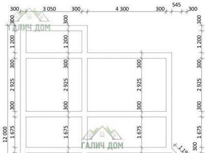 Картинка (7) План фундамента дома (ДБ-102)