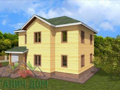 Картинка (2) Двухэтажный дом из бруса 8х14 (ДБ-66)