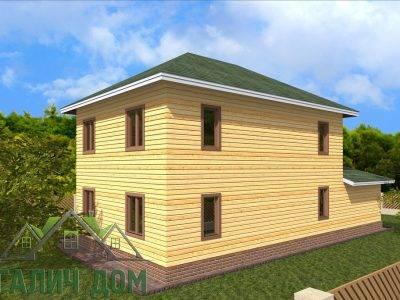 Картинка (3) Проект дома из бруса 8х14 с гаражом (ДБ-66)