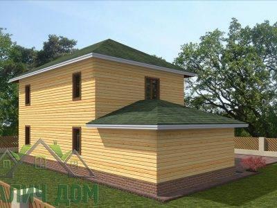 Картинка (4) Проект дома из бруса 8х14 (ДБ-66)