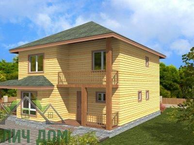 Картинка (2) Двухэтажный дом 9х10 из бруса (ДБ-68)