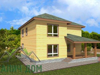 Картинка (4) Проект двухэтажного дома 9х10 (ДБ-68)