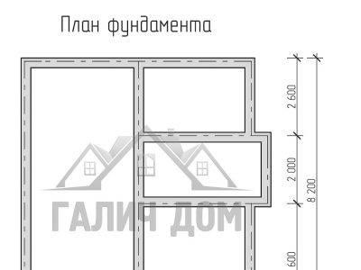 Картинка (7) План фундамента дома из бруса 8х9 с террасой