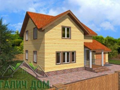 Картинка (4) Проект двухэтажного дома из бруса 8х12 (ДБ-73)