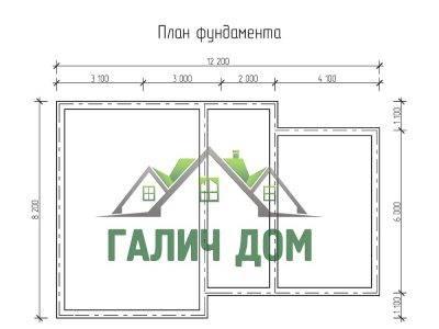 Картинка (7) План фундамента дома 8х12 (ДБ-73)