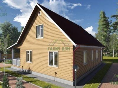 Картинка (2) Дом из бруса 11х13 с мансардой (ДБ-75)