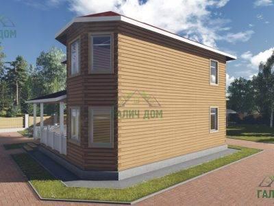 Картинка (2) Двухэтажный дом из бруса 10х10 (ДБ-76)