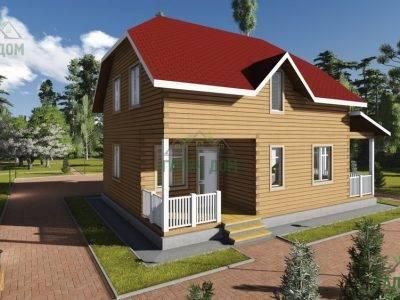 ДБ-77 | Деревянный дом из бруса 8х11
