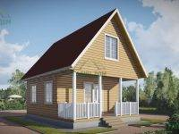 ДБ-138 | Одноэтажный дом из бруса 6х8