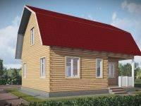 ДБ-146 | Сруб дом из бруса 8х9 с мансардой