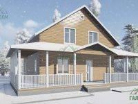 ДБ-113 | Загородный дом 11х13 с террасой