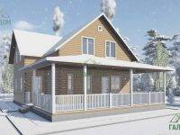 ДБ-112 | Загородный дом из бруса 9х10 с террасой