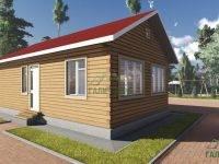 ДБ-103 | Одноэтажный дом 6х10 из бруса