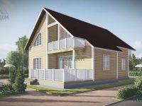 ДБ-53 | Проект дома из бруса 9 на 10