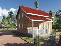 ДБ-85   Проект брусового дома 9 на 10