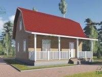 ДБ-118 | Загородный дом из бруса 7х9