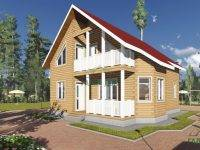 ДБ-102 | Дом из бруса 8х11 с балконом