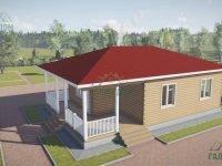 ДБ-127 | Одноэтажный дом из бруса 8х12
