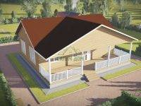 ДБ-145 | Одноэтажный дом из бруса 11х12