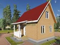 ДБ-78 | Деревянный дом из бруса 8 на 9