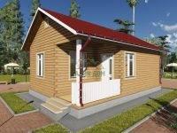 ДБ-83 | Одноэтажный дом из бруса 6х9