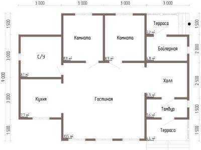 Картинка (5) Планировка дома 9 на 12 (ДБ-93)