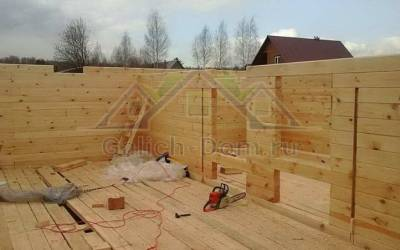 Фото 2 - строительство стен 1го этажа