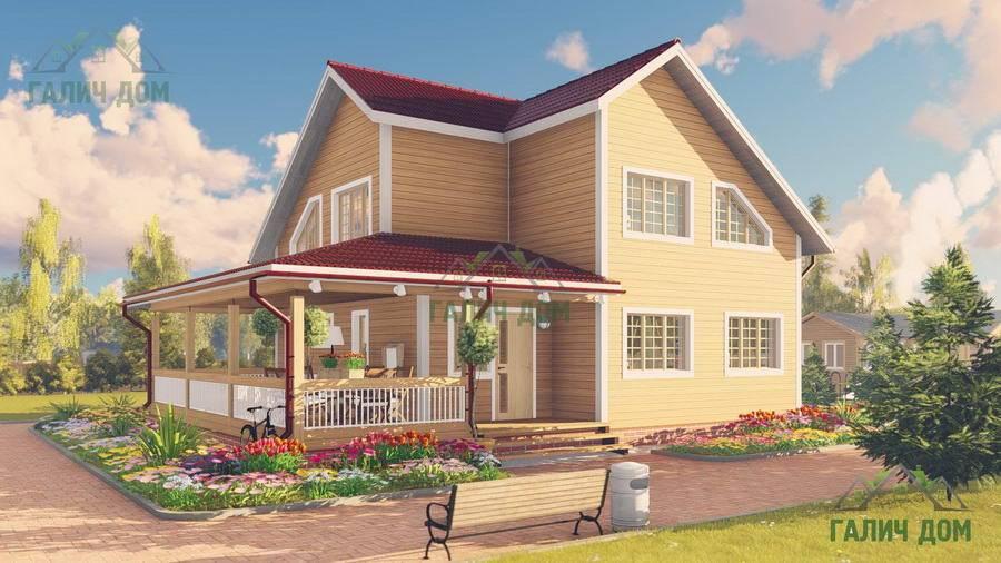 Картинка (1) Деревянный дом из бруса 9х12 (ДБ-61)