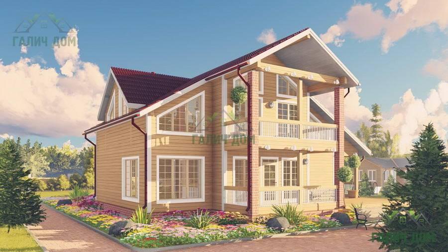Картинка (1) Недорогой дом из бруса 11 на 9 (ДБ-63)