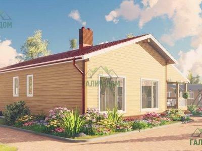Картинка (4) Проект одноэтажного дома из бруса 11х13