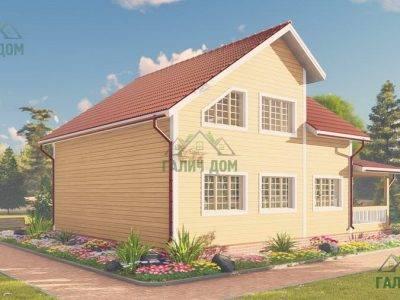 Картинка (3) Проект деревянного дома 9х12 (ДБ-61)