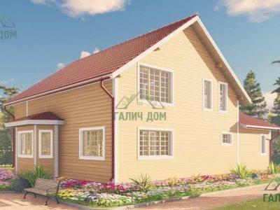 Картинка (2) Дом из бруса 10 на 13 с эркером(ДБ-62)