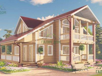 Картинка (3) Проект дома из бруса 11 на 9 (ДБ-63)