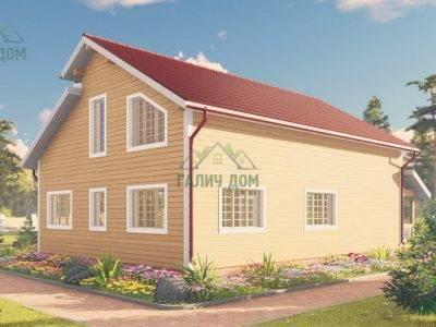 Картинка (2) Дом из бруса 10х13 с двумя входами (ДБ-64)